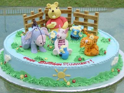 Winnie the Pooh Cake Decorations, Pictures and Designs