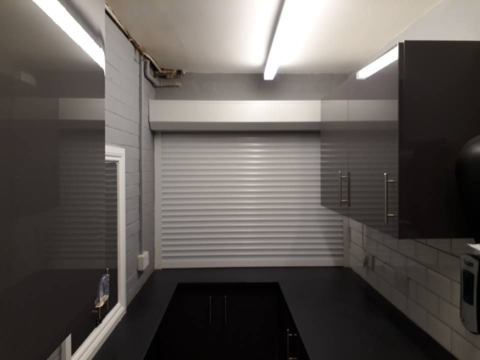 Callisto Roller Shutter Fitted To Servery Hatch In Fleet Hampshire