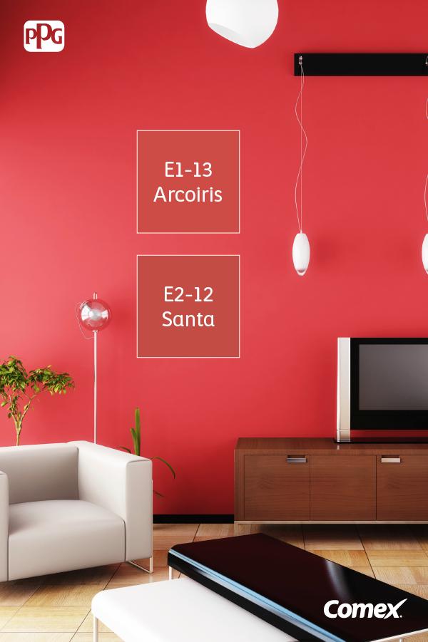 Dile adi s a la monoton a una pared roja es atrevida y for Casa minimalista roja