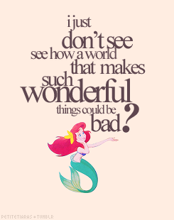 I just don\'t see how a world that makes such wonderful ...