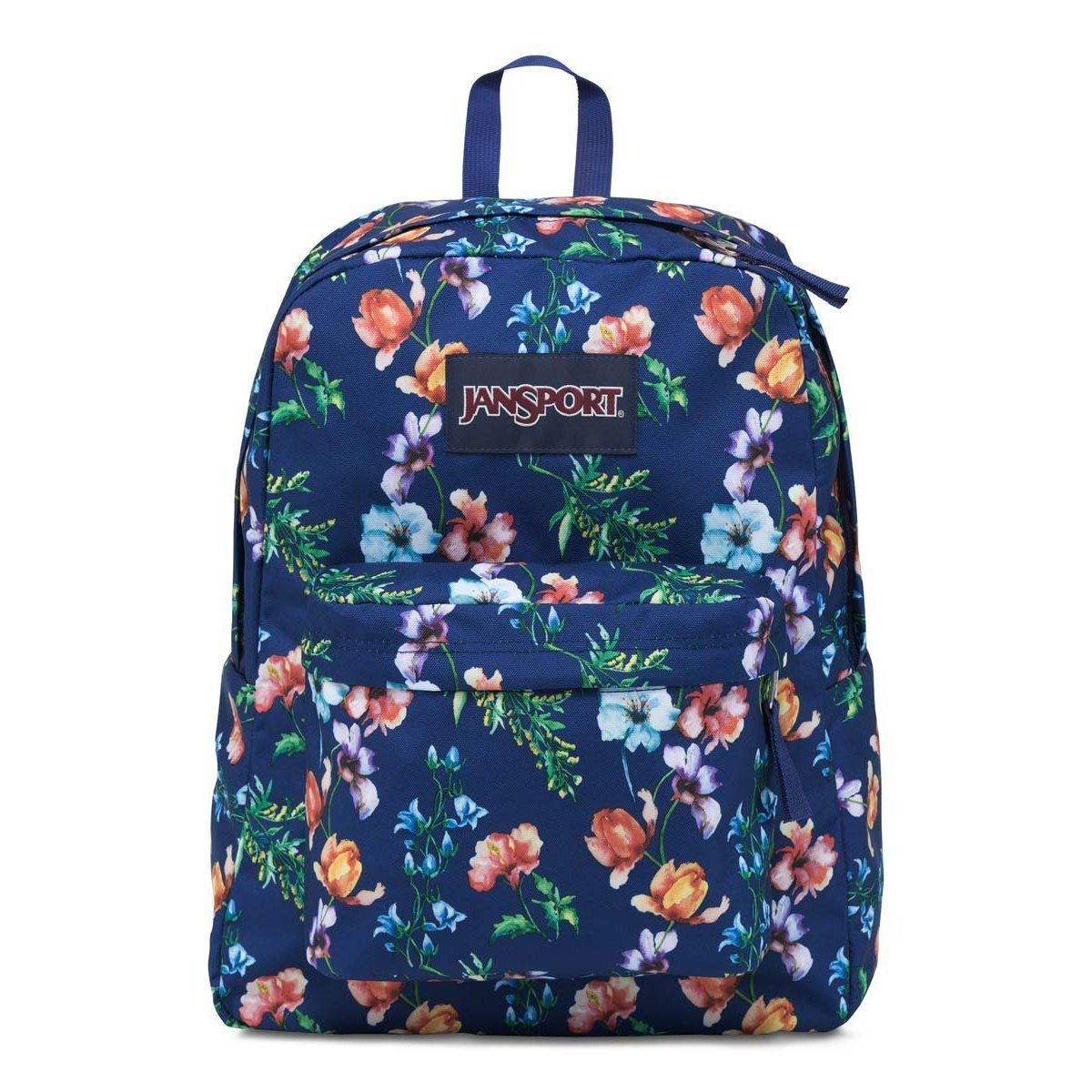 Jansport Superbreak Backpack- Multi Navy Mountain Meadow | Back to ...