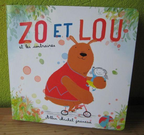 Zo Et Lou Et Les Contraires Amelie Billon Le Guennec Gabriel Alborozo Editions Albin Michel Jeunesse Jeunesse Blogger