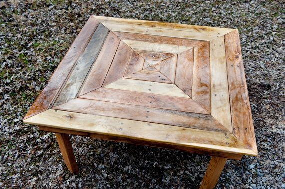Concentric Square Pallet Wood Coffee Table By Atomizedconcepts