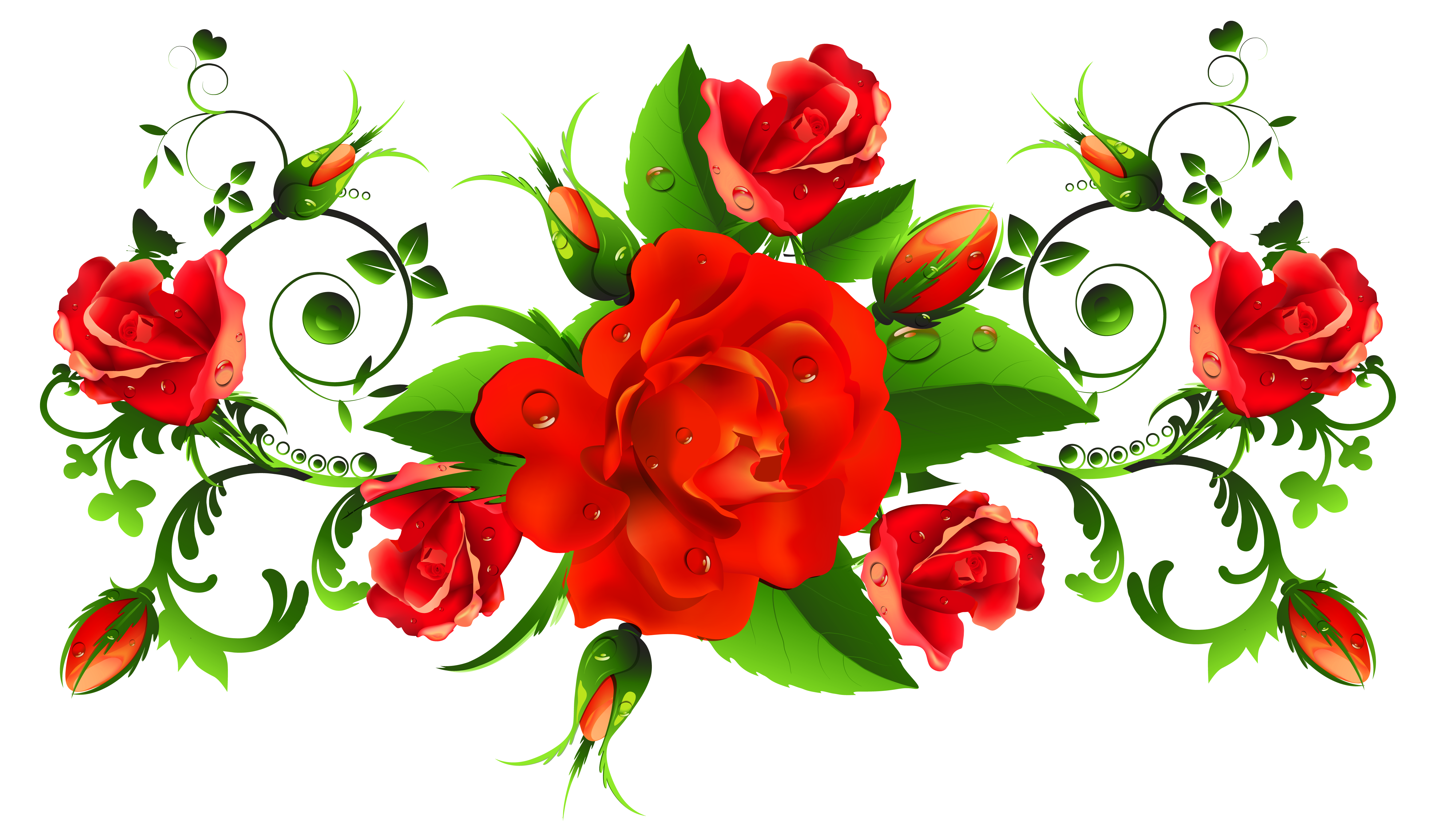 Red Roses Decor PNG Picture Gallery Yopriceville High