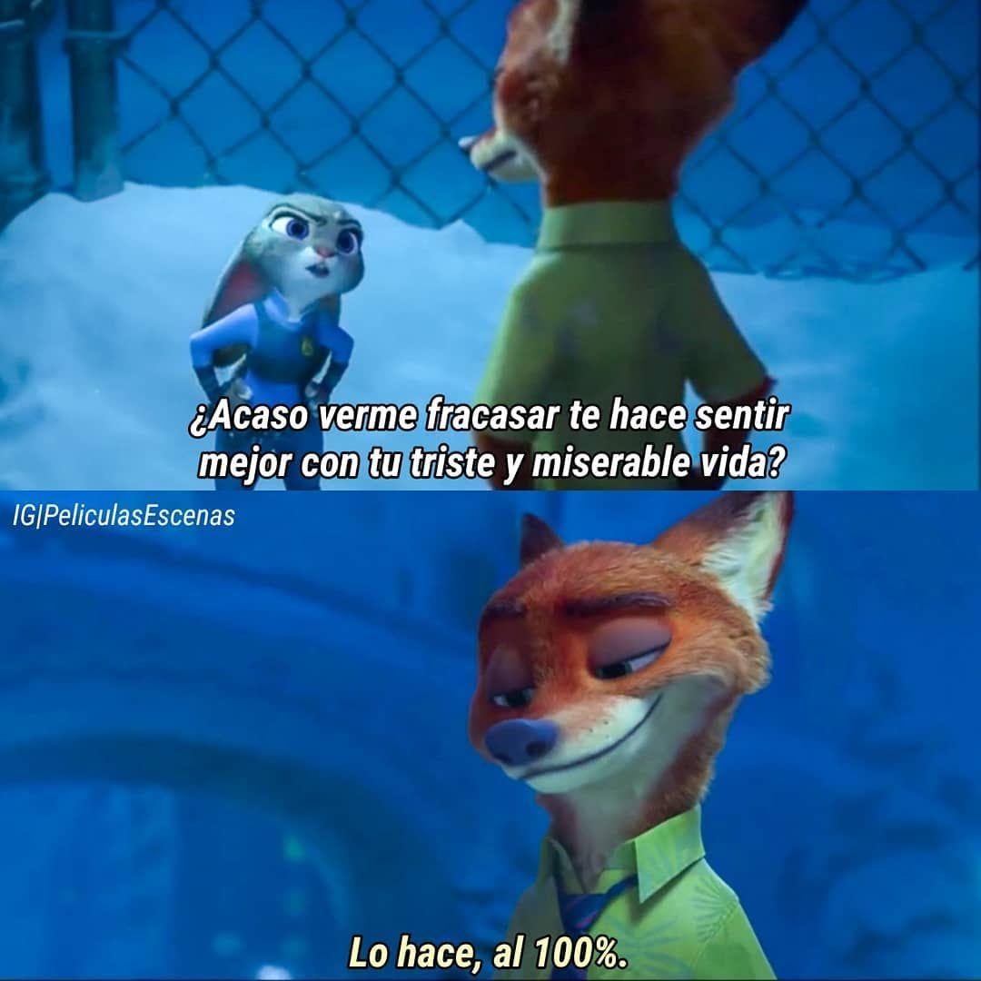 Frases De Series Y Peliculas On Instagram Zootopia In 2020 Funny Relatable Memes Zootopia Memes
