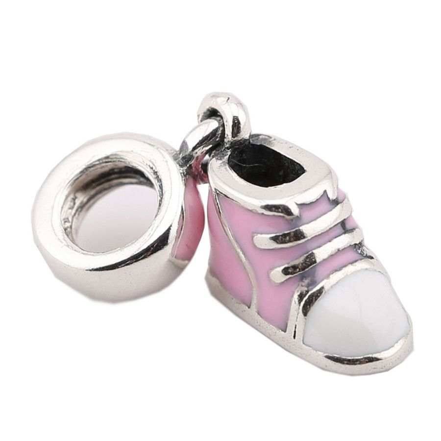 sterling silver pink mini shoes charm fit original pandora