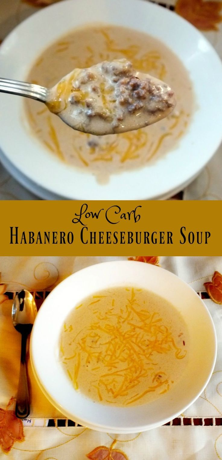 Spicy Habanero Cheeseburger Soup | Recipe | Low carb | Cheeseburger soup, Low Carb Recipes, Keto ...