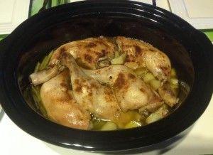 Cuisses de poulet et haricots verts façon tajine à la mijoteuse
