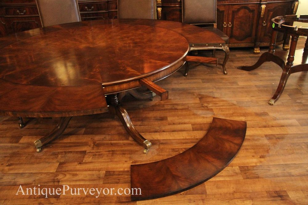 Extra Large 64 88 Inch Round Dining Table With Perimeter