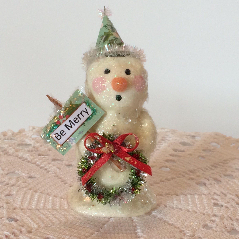 Christmas Gift Appeal: Miniature Snowman, Doll House Christmas, Snowman Ornament