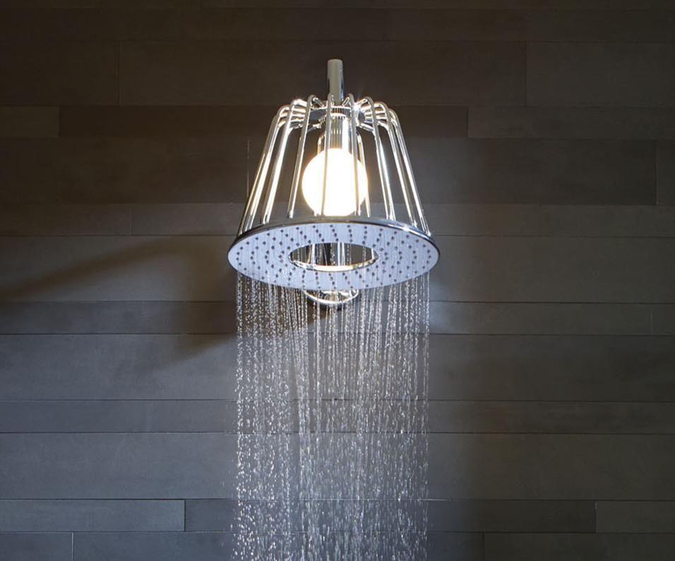 Doccia con illuminazione bathroom illuminazione bagno bagno e