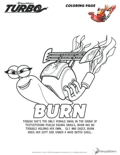 Turbo Printable Coloring Page Burn Coloring Pages Cool Coloring Pages Printable Coloring Pages