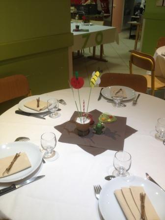 décoration table: thème jardin | décoration salle des fêtes | Table ...