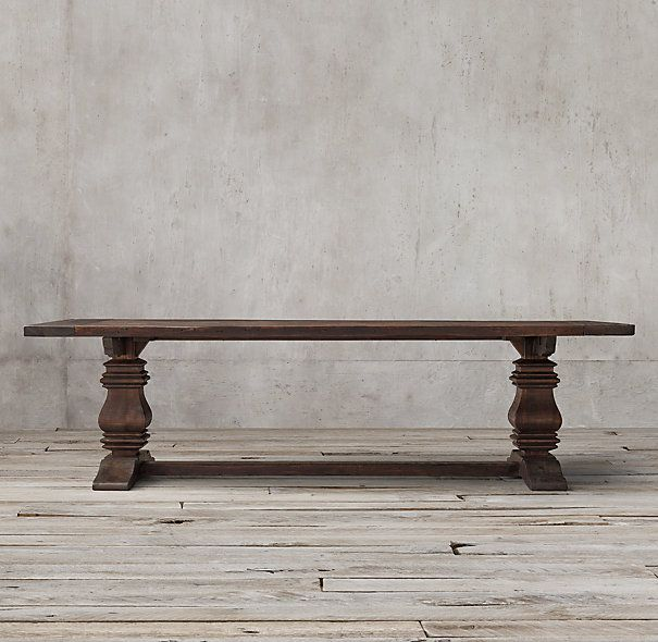 Salvaged Wood Trestle Rectangular Extension Dining Table Extension Dining Table Wood Trestle Table Dining Table