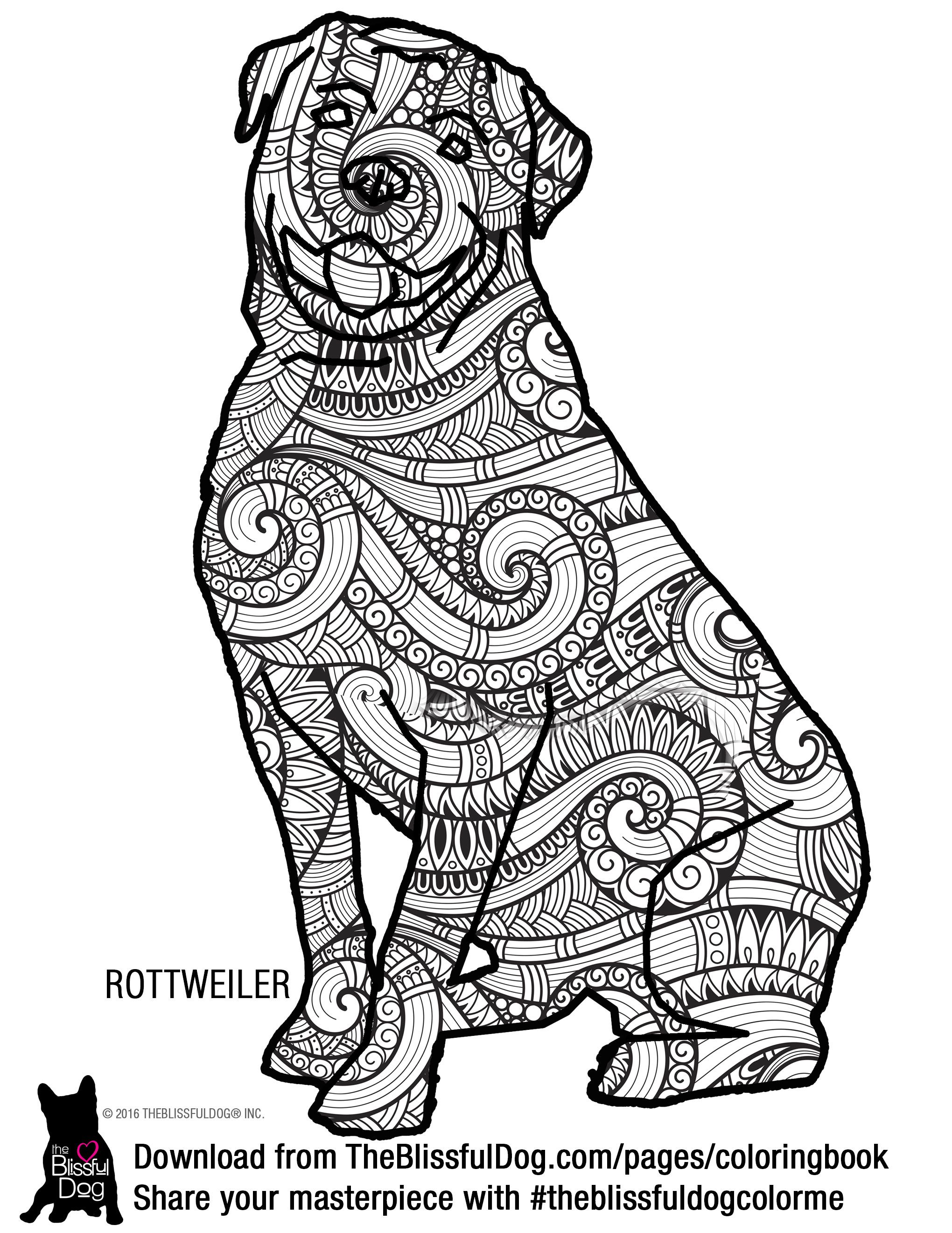 Coloring Book | Pinterest | Rottweiler, Coloring books and Dog breeds