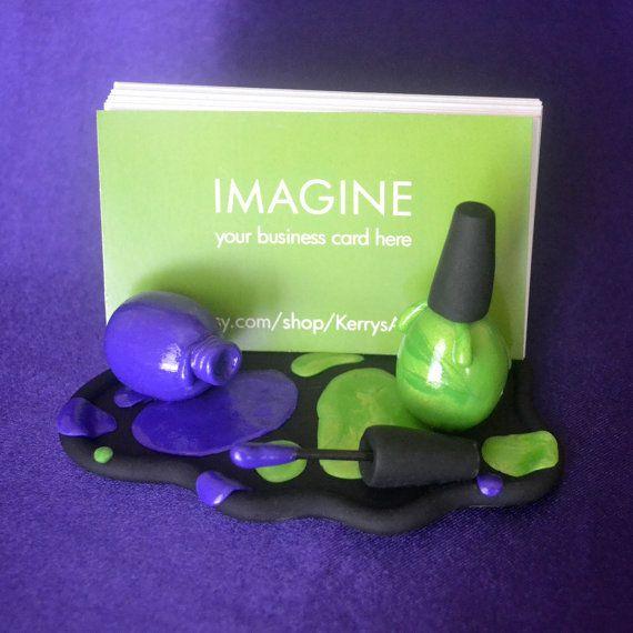 Esmalte de uñas color púrpura y verde polímero por KerrysArtGarden ...