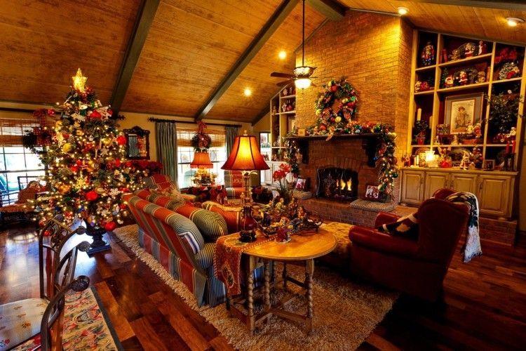 d corations de no l l 39 am ricaine 57 id es en rouge et vert merry christmas decoration. Black Bedroom Furniture Sets. Home Design Ideas