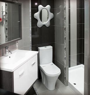 meuble de salle de bain suspendu, wc jade, receveur de douche ...
