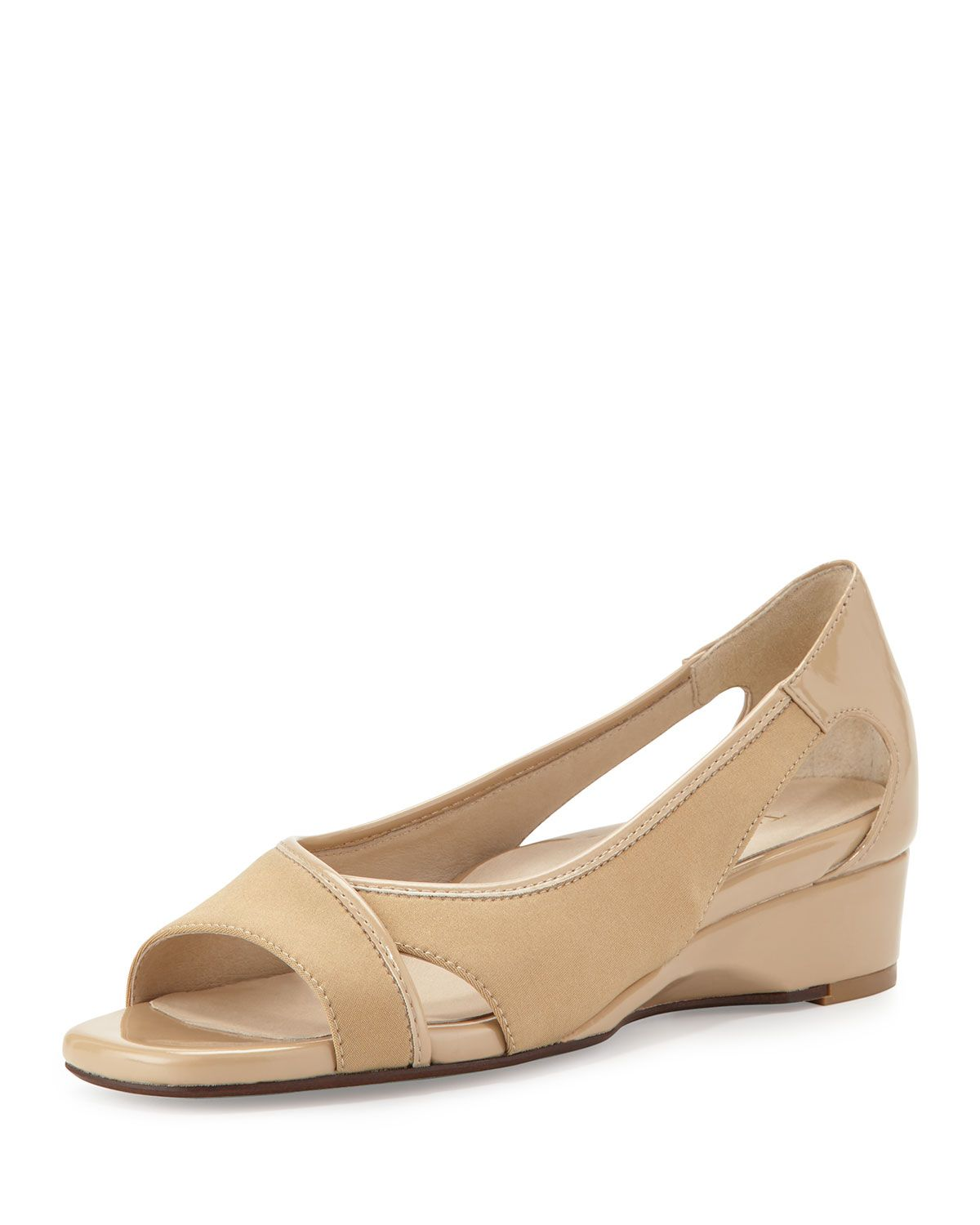 73c646a11b8 Klouse Open-Toe Demi-Wedge Sandal