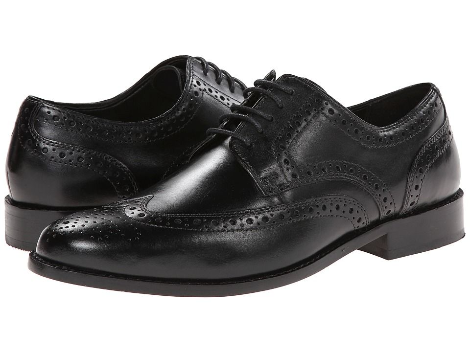 d4b2cf76f 1930s Style Mens Shoes Nunn Bush - Nelson Wingtip Oxford Black Mens Dress  Flat Shoes  68.00