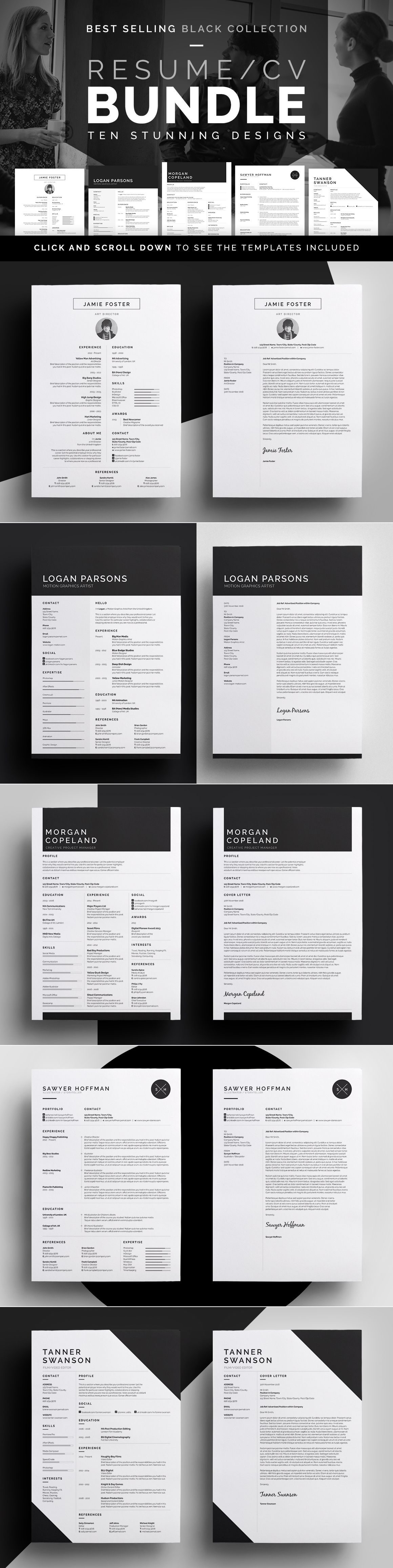 resume  cv bundle - complete career pack