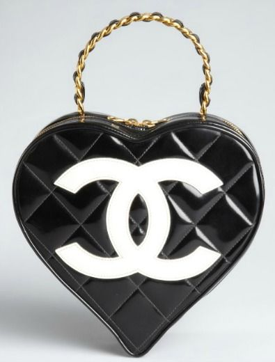 5850101bc93f91 chanel heart Chanel Black Quilted Patent Leather Heart Shaped Tote-demurebyj