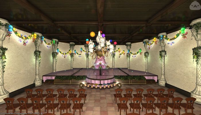 Grand Stage And Event Room Ffxiv Housing Inspiration In 2019