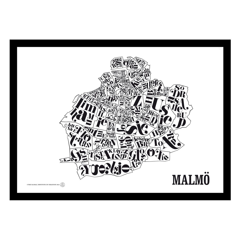 malmö karta poster Malmökarta poster | Inredning and Interiors malmö karta poster