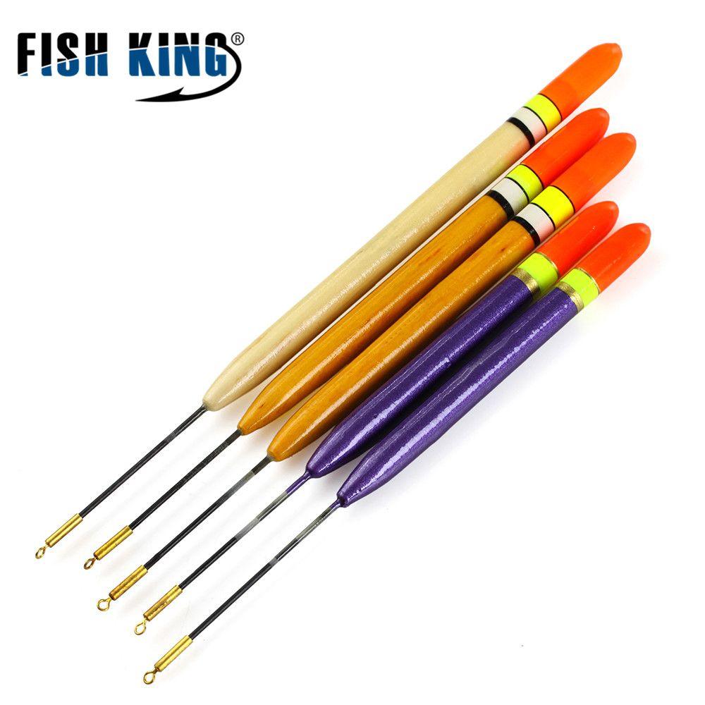 5 Colour Luminous Fly Fishing Float Bobber Ball Indicator Stream Hair Hook Set