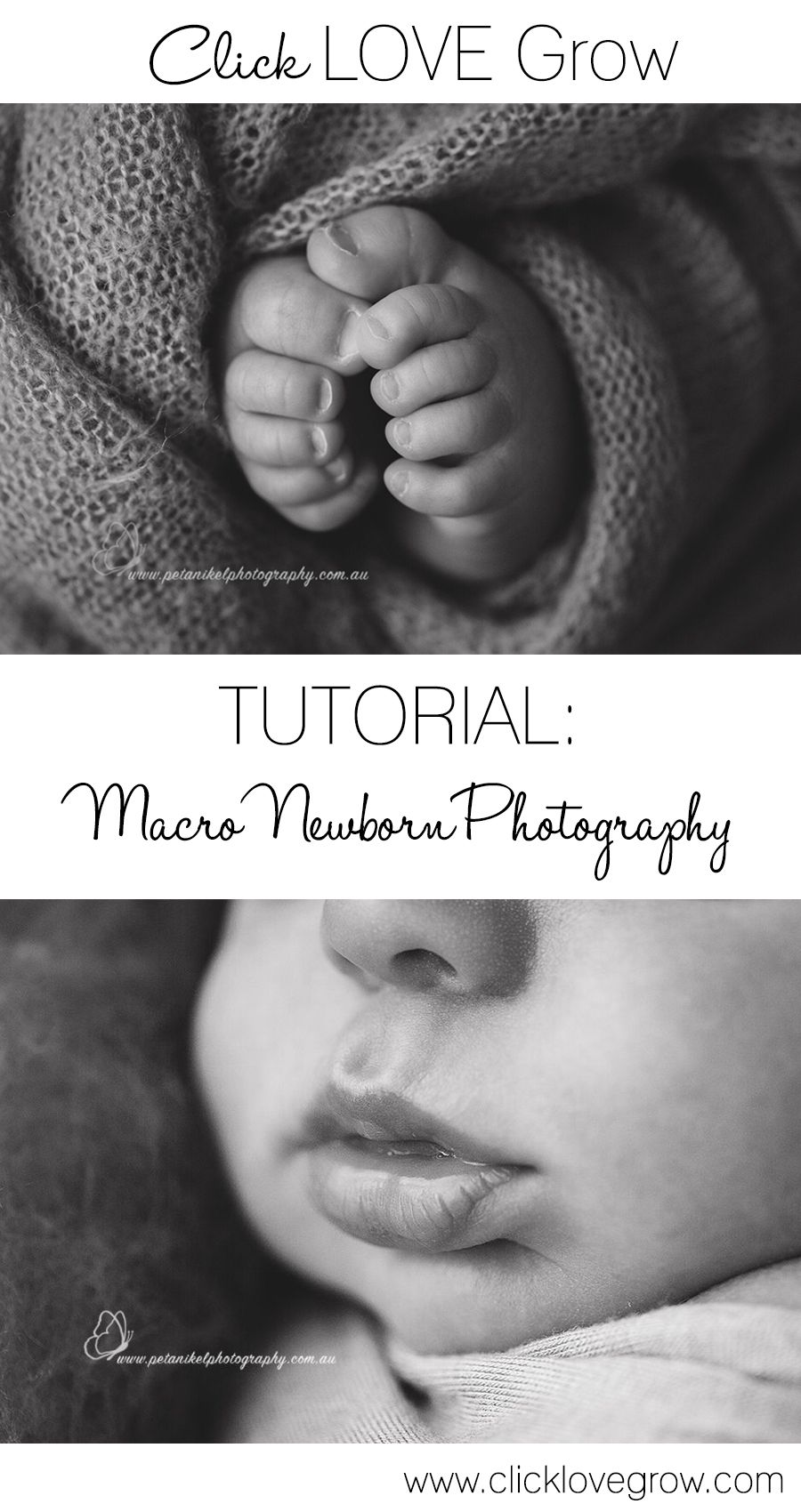 Learn everything you need to know to about using a macro lens for newborn photography to