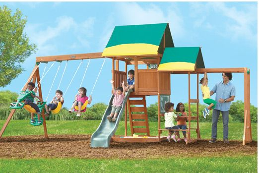 Big Backyard | Backyard toys, Big backyard, Playhouse outdoor