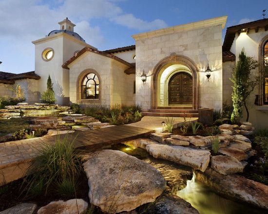 luxury modern country home in clean lines design amazing mediterranean exterior stone garden spanish oaks - Luxury Stone Exterior