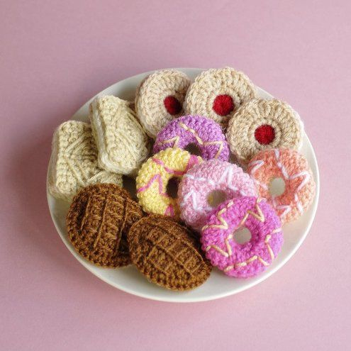 crochet cookies - tasty treat