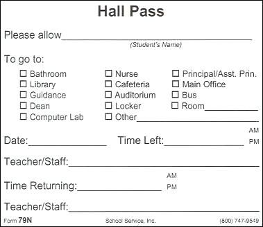 hall pass template sample templates school bus pass template free