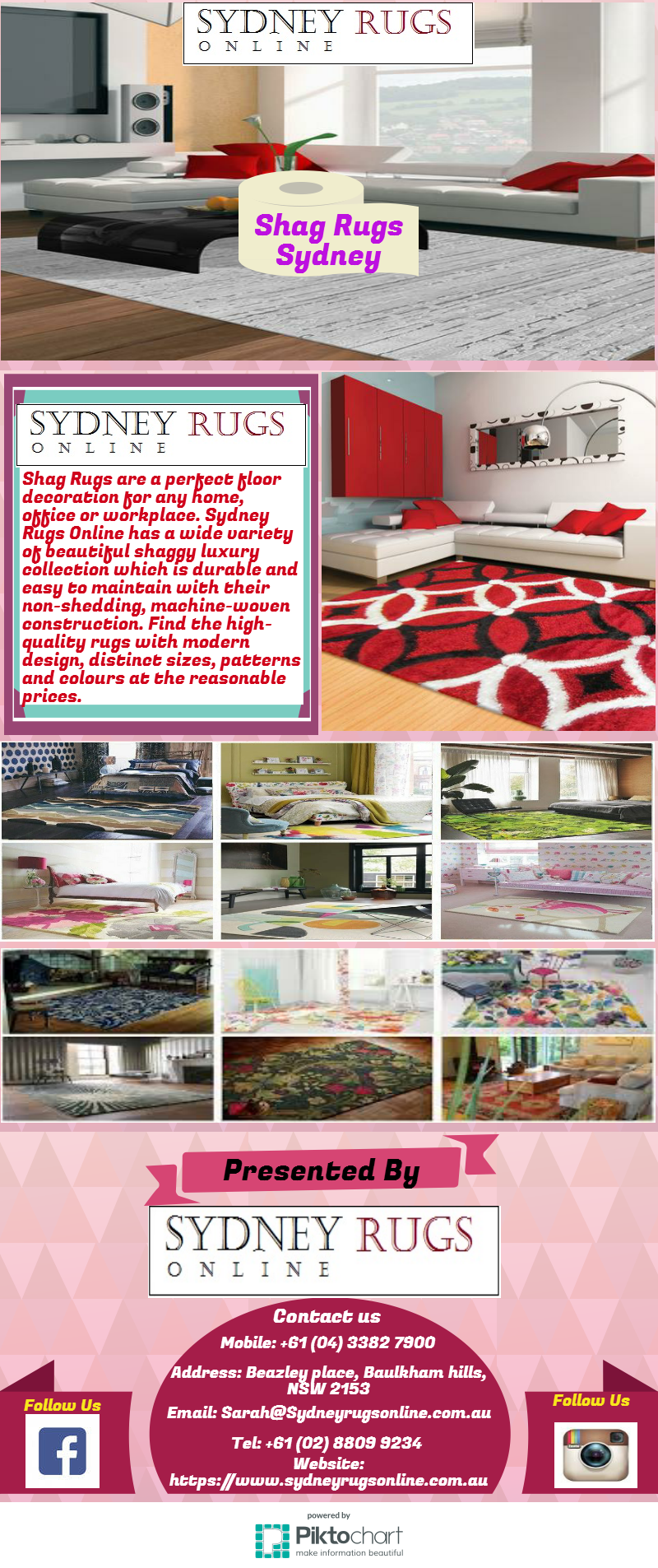 We Have The Latest Design And Colour Shag Rugs Sydney At Affordable Price For