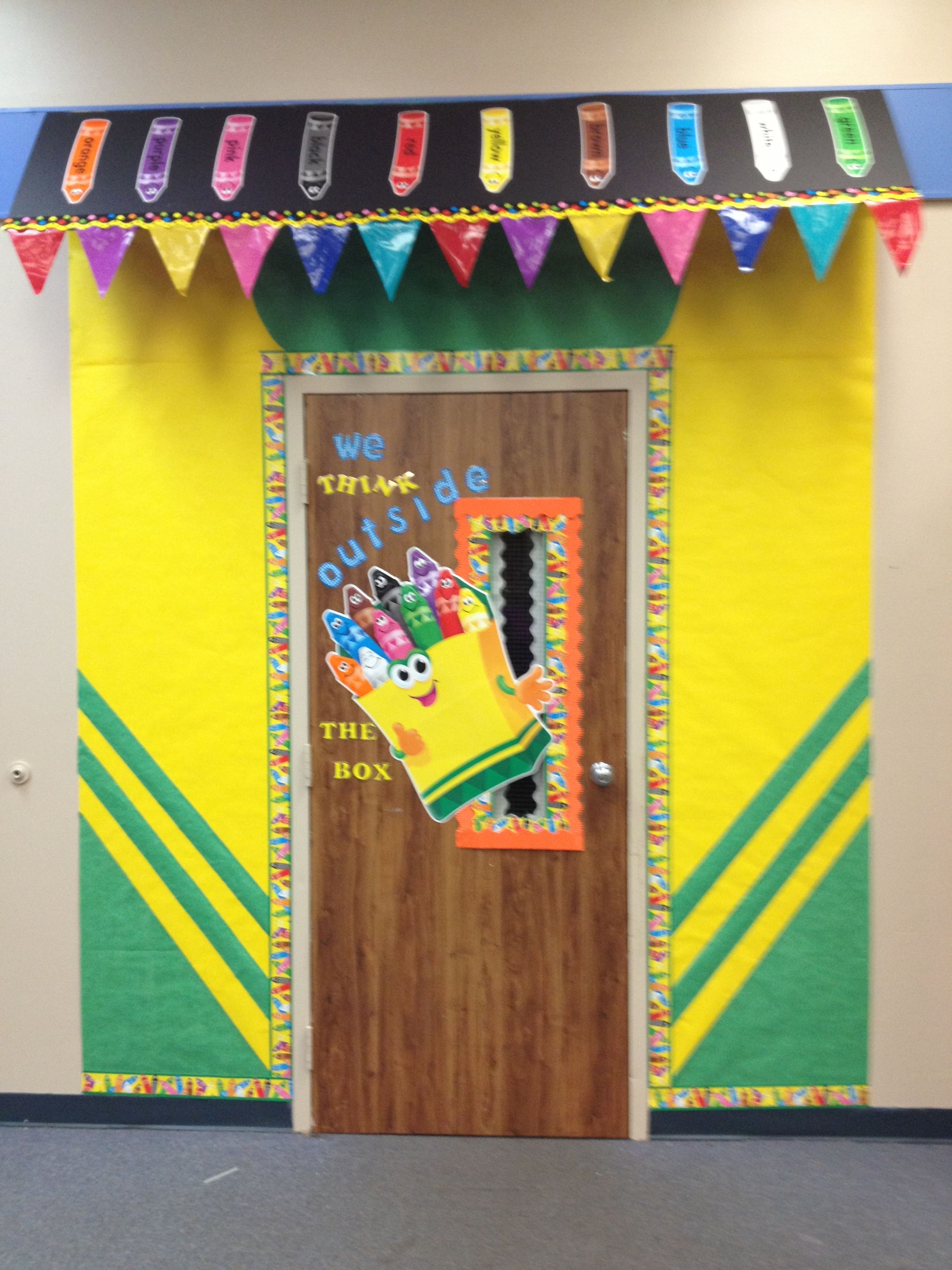 Crayon Box door decoration by Marisha Isadore