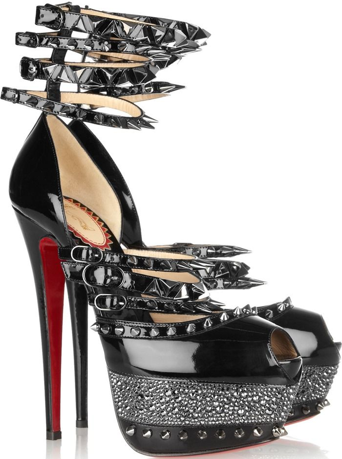 Christian Louboutin 20th Anniversary Isolde 160 patent-leather sandals