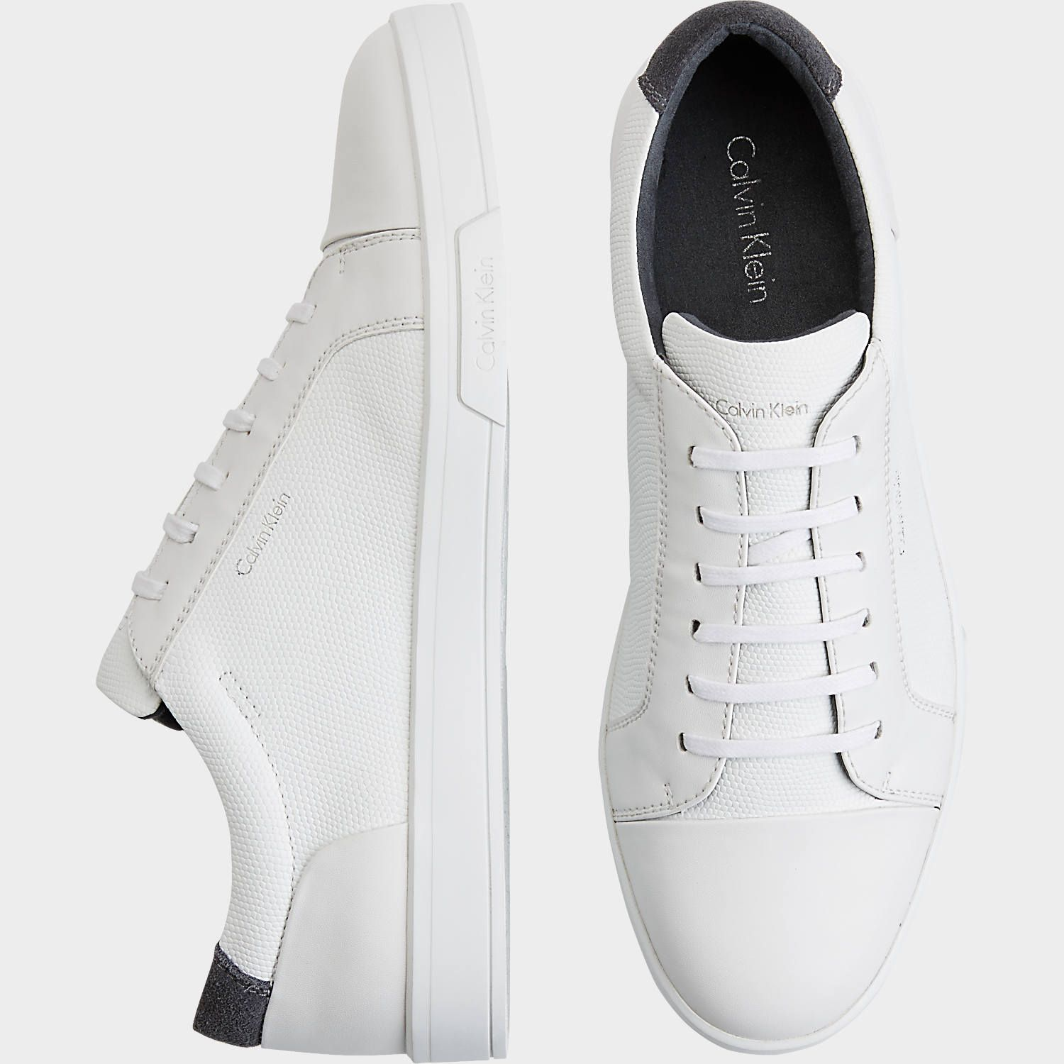 6ca21f913 Buy a Calvin Klein Barrington White Sneakers online at Men s Wearhouse. See  the latest styles of men s Casual Shoes. FREE Shipping on orders  99+.