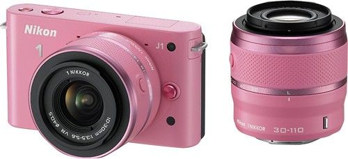Shop Nikon 1 J1 10.1-Megapixel Digital Camera with 10-30mm/30-110mm Lens Kit Pink at Best Buy. Find low everyday prices and buy online for delivery or in-store pick-up. Price Match Guarantee.