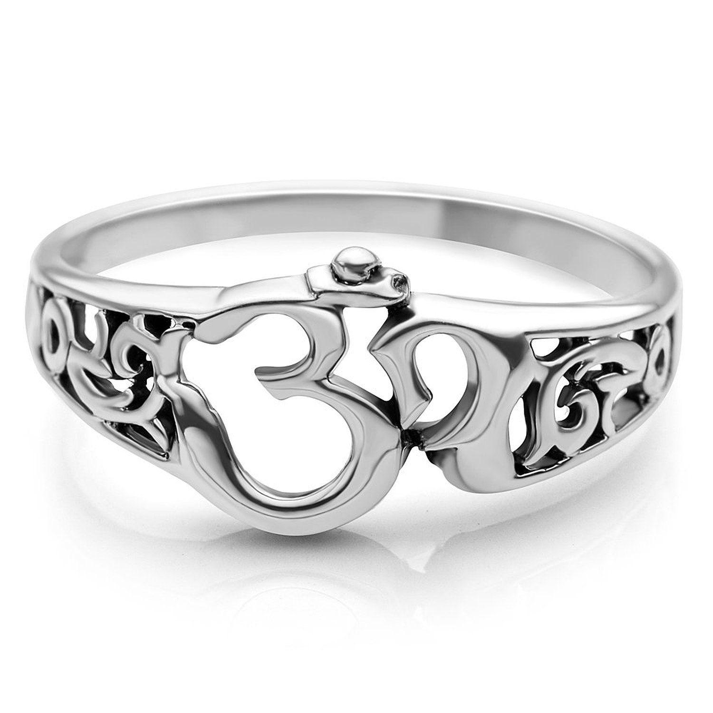 925 sterling silver aum om ohm sanskrit symbol
