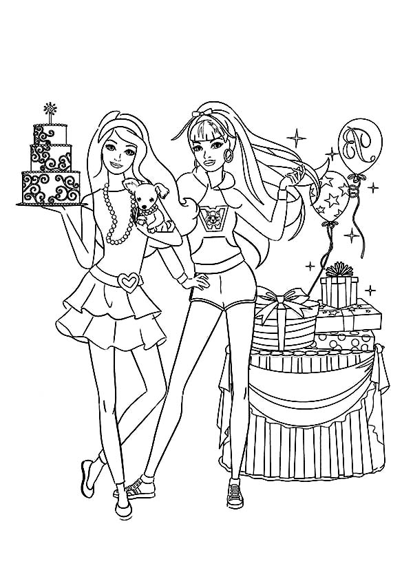 Barbie Birthday Party Coloring Pages Bulk Color Birthday Coloring Pages Happy Birthday Coloring Pages Coloring Pages