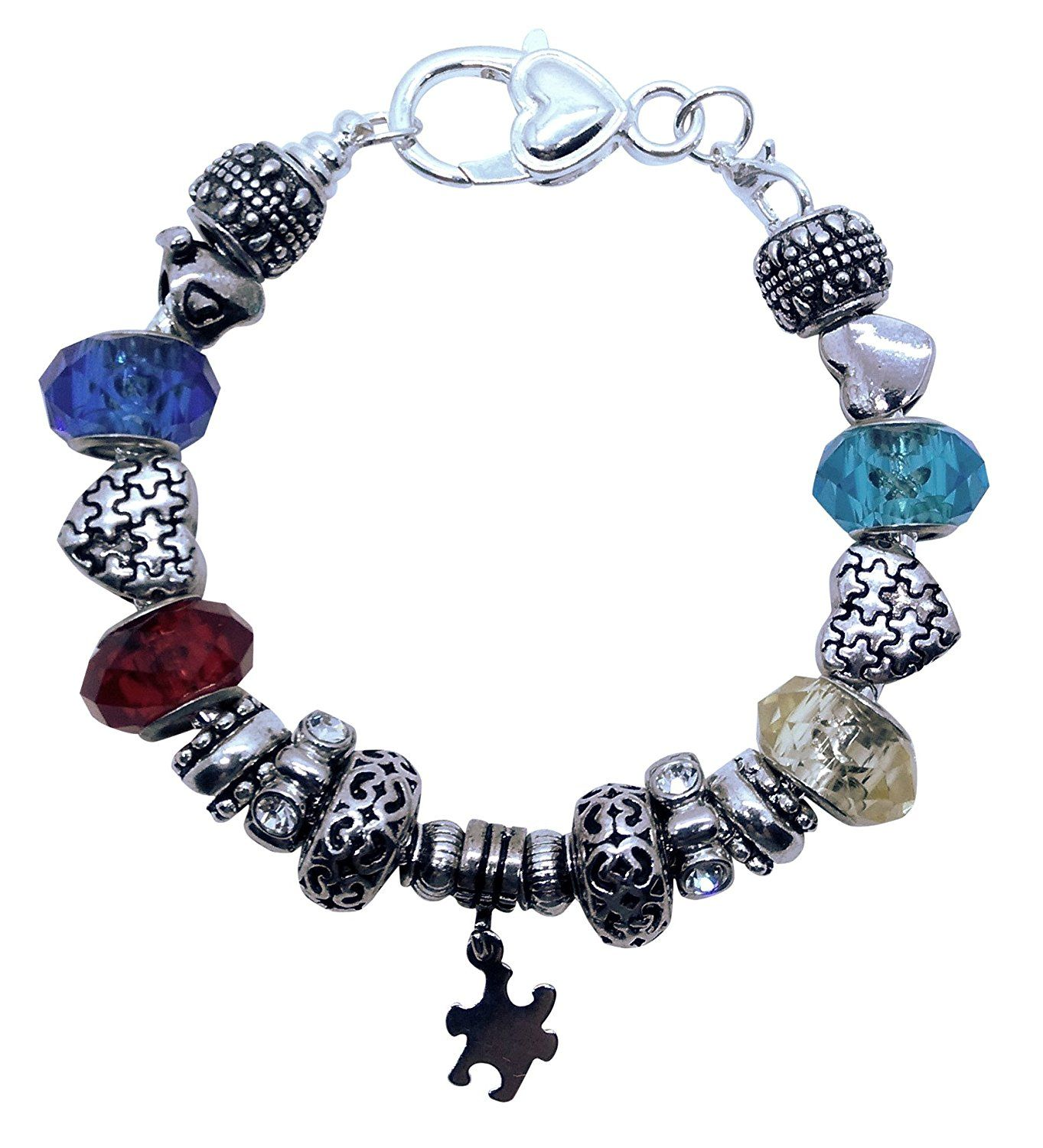 big bracelet puzzle silver awareness piece autism