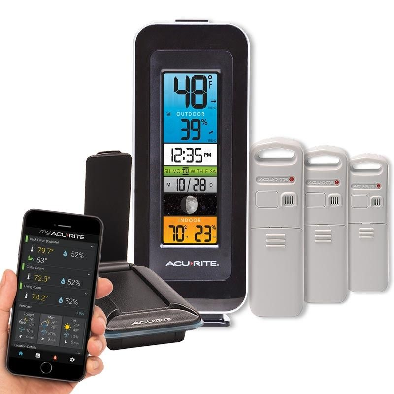 Color Thermometer Display & 3Sensor Temperature and
