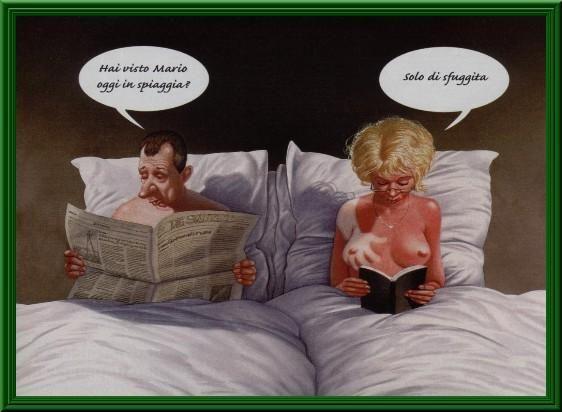 Uomo e donna nel letto che raccontano la loro giornata - Ragazze nel letto ...