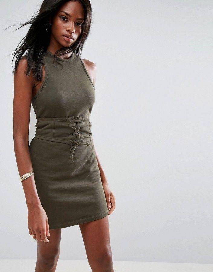 695ab1b7c57 Asos Sleeveless Corset Mini Dress With Cut Out Back https   api.shopstyle