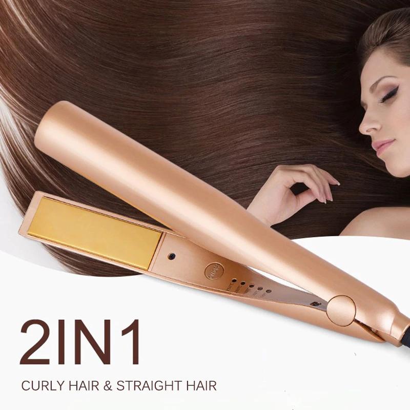 2 In 1 Twist Hair Curler And Straightener Hair Curlers Hair Curling Tools Curling Iron Hairstyles