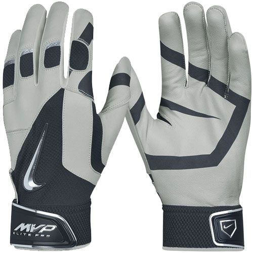 Nike Men's MVP Elite Pro Batting Glove - Grey/Navy