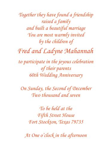 Print your own 60th wedding anniversary invitation wording parents print your own 60th wedding anniversary invitation wording stopboris Image collections