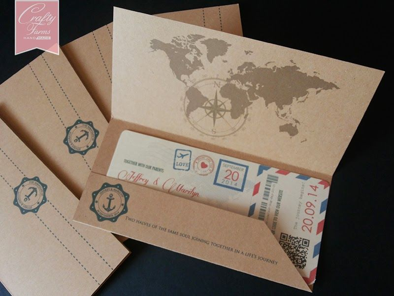 vintage travel themed wedding programs | Vintage Boarding Pass ...