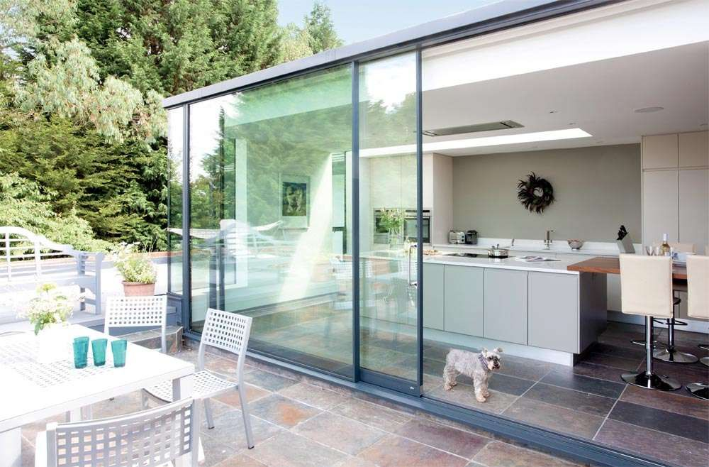 Kitchen extensions google search kitchen extensions for Conservatory sliding doors